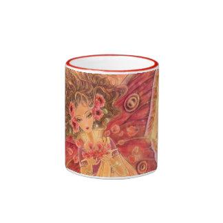 Crimson Wings Fairy Fantasy Art Mug