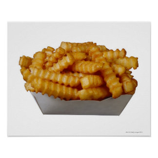 Crinkle-cut french fries poster