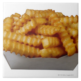 Crinkle-cut french fries tile