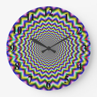 Crinkle Cut Psychedelia Large Clock