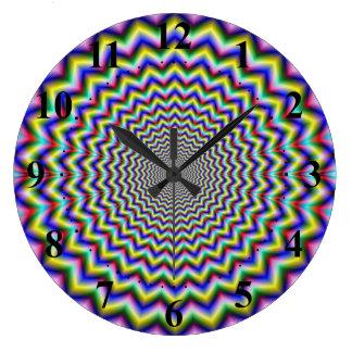 Crinkle Cut Psychedelia Wall Clocks
