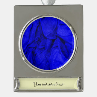 crinkle fabrics,blue silver plated banner ornament