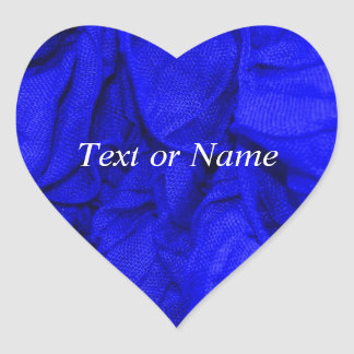 crinkle fabrics,blue heart sticker