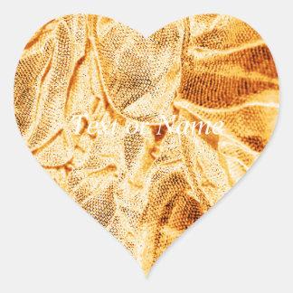 crinkle fabrics,golden glimmer heart stickers
