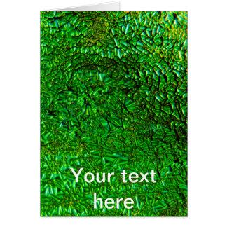 Crinkle green fused glass card