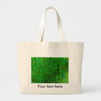 Crinkle green fused glass large tote bag