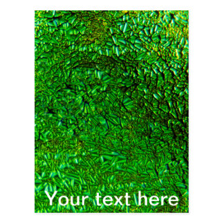 Crinkle green fused glass postcard