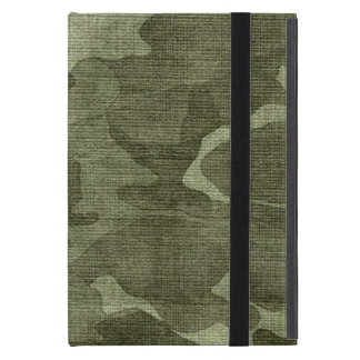 Crinkled Camo Camouflage Pattern Cover For iPad Mini