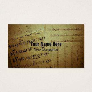 Crinkled Music Sheets