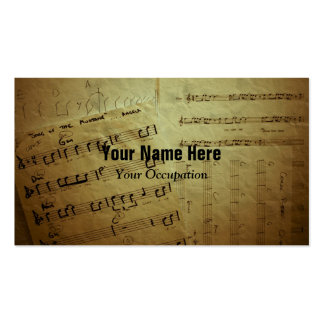 Crinkled Music Sheets Pack Of Standard Business Cards