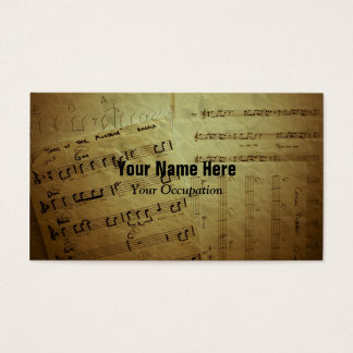 Crinkled Music Sheets Business Card