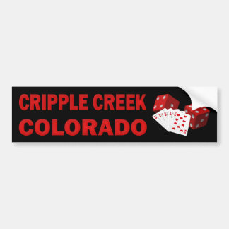 CRIPPLE CREEK COLORADO BUMPER STICKER