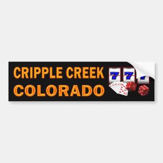 CRIPPLE CREEK COLORADO BUMPER STICKER CAR BUMPER STICKER