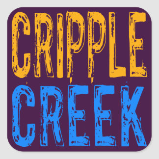 Cripple Creek Square Stickers