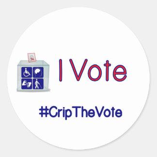 #CripTheVote I VOTE stickers (round) large