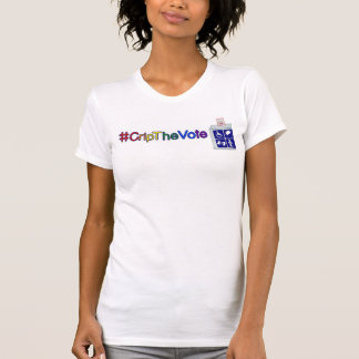 #CripTheVote T-shirt for women celebrating Pride