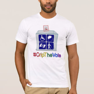 #CripTheVote t-shirt, white, for men T-Shirt