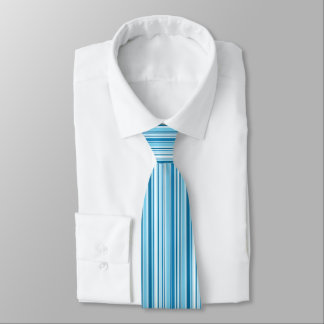 Crisp Blue and White Pinstripes Tie