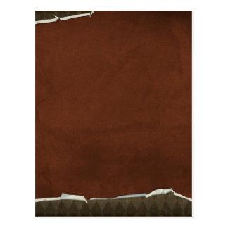 crisp fall air  leaf paper02 RICH COFFEE BROWN  TE Postcard
