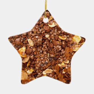 Crisp Muesli Texture Christmas Ornament
