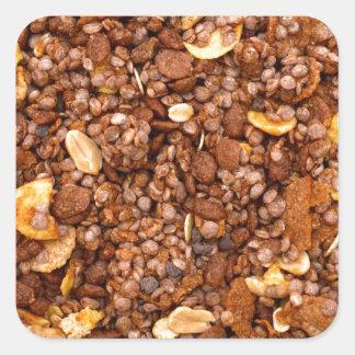 Crisp Muesli Texture Square Sticker