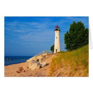 Crisp Point Lighthouse Greeting Card