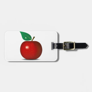 Crisp Red Apple Luggage Tags