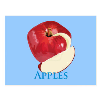 Crisp Red Apple Postcard