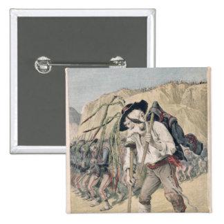 Crispi's Defeat caricature 15 Cm Square Badge