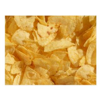 Crisps chips postcard
