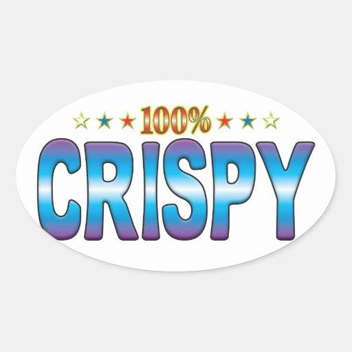 Crispy Star Tag v2 Oval Sticker
