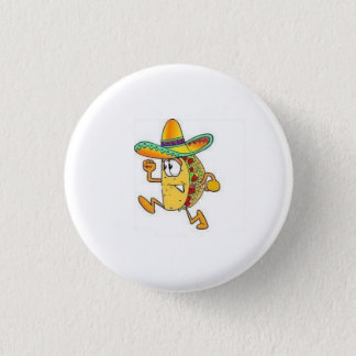 crispy taco 3 cm round badge