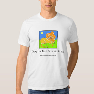 Crispy the Lion Believes in You Tees