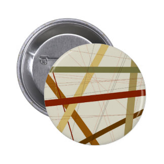 Criss Cross 6 Cm Round Badge