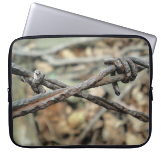 Criss-Cross Barbed Wire Laptop Computer Sleeve