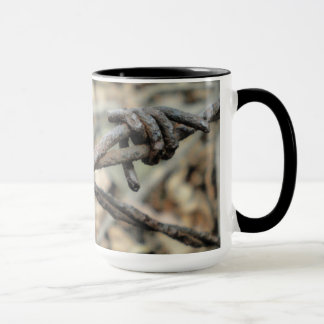 Criss-Cross Barbed Wire Mug