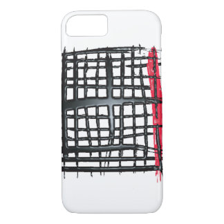 Criss cross black and red iPhone 7 case
