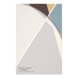 Criss Cross * Brown + Blue Business Stationery