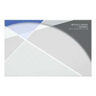 Criss Cross * Gray + Blue Business Stationery