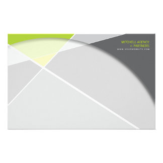 Criss Cross * Gray + Green Business Stationery