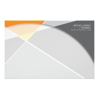 Criss Cross * Gray + Orange Business Stationery