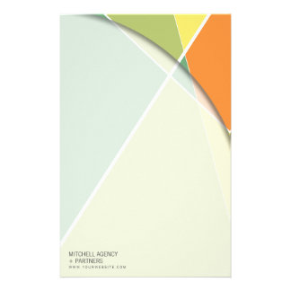 Criss Cross * Green + Orange Business Stationery