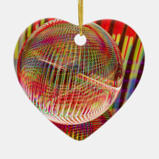 Criss Cross lights in the crystal ball Christmas Ornament