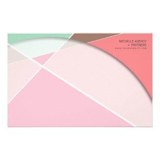 Criss Cross * Raspberry Pink Aqua Stationery