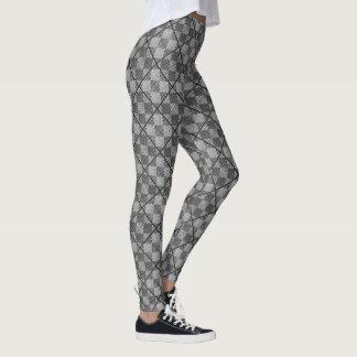 Criss Crossed Argyle Modern Goth Print Leggings