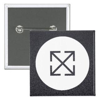 Criss Crosses Pictogram 15 Cm Square Badge