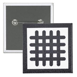 Criss Lines Icon 15 Cm Square Badge