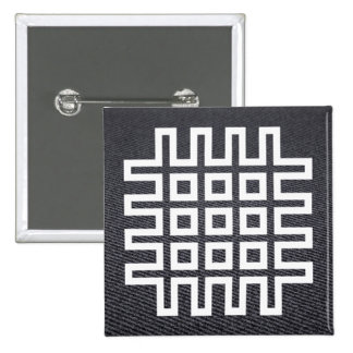 Criss Nets Minimal 15 Cm Square Badge