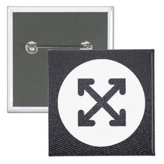 Criss Patterns Symbol 15 Cm Square Badge