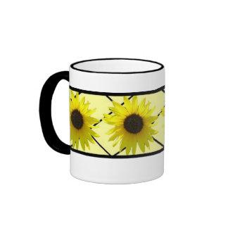 Crisscross Sunflower Ringer Mug